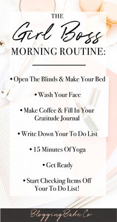 A needs a special, productive morning routine to be able to run her day and get sh* done. This morning routine is perfect for every girl boss out there who want to start their day with a productive morning routine. Start your day like a boss! Good Habits, Healthy Habits, 7 Habits, Healthy Meals, Vie Motivation, Morning Motivation, Boss Babe Motivation, Night Routine, Morning Routines