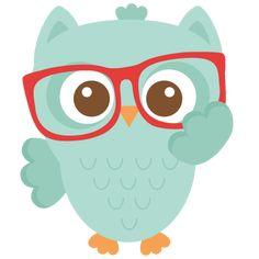 Coruja Lindinha com um óculos vermelho