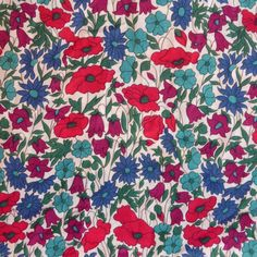 Liberty of London Fabric tana lawn Poppies and by MissElany