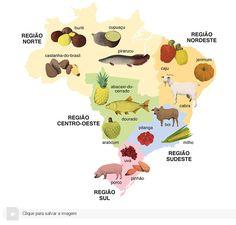 Alimentos típicos das regiões brasileiras