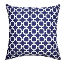 Summer Sale  Mill Creek HockleyNavy Blue by LandofPillowsDotCom, $18.49