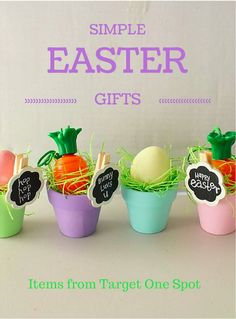 Simple Easter Gifts made with items from the Target Dollar Spot