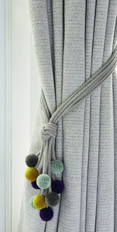 Raffhalter Rialto - - curtains -Romo Raffhalter Rialto - - curtains - Marvelous curtain ideas for master bedroom to inspire you Elephant curtain ties nursery curtain tie-backs nursery iichi Curtains With Blinds, Home Curtains, Neutral Curtains, Tie Backs For Curtains, Grey And Mustard Curtains, Window Curtains, Pom Pom Curtains, Farmhouse Curtains, Rustic Curtains