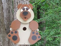 Billy Bear Birdhouse by CraftedCritters on Etsy, $65.00