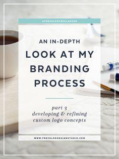 An In-depth Look at My Branding Process - Part 3: Custom Logo Design — Freckled Design Studio