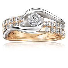 Vivienne. 14K Gold Brilliant-Cut Diamond Engagement Ring
