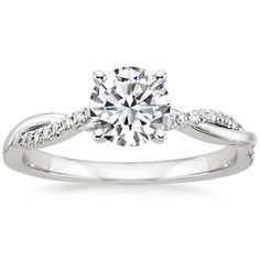 White Gold Pee Twisted Vine Diamond Ring Yes
