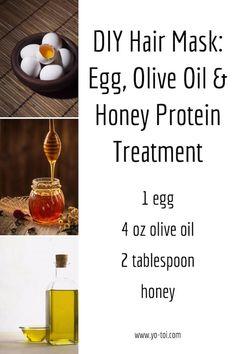 DIY Hair Mask: Egg, Olive Oil & Honey Protein Treatment - yo-toi.com