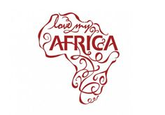 Africa outline illustrated I love the idea of. Maybe not quite as twirly and not in red.