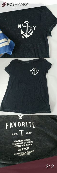 American Eagle Outfitters nautical t-shirt S/P Favorite t-shirt.  Good condition.  Somewhat worn in.  Lightweight and thin fabric. American Eagle Outfitters Tops Tees - Short Sleeve