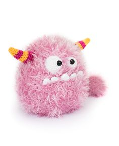 Bibi the cotton candy monster by DIY Fluffies  'Amigurumi Monsters' book // Dim the lights, bring out your flashlight and quickly check underneath your bed: this new book will reveal the most adorable amigurumi monsters!