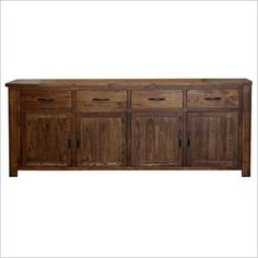 Kodak Mountain Ash 4 Door Buffet Table in Blackwood Sideboard Buffet, Online Furniture, Kitchen Furniture, New Homes, Doors, Cabinet, Dining, Storage, Furnitures