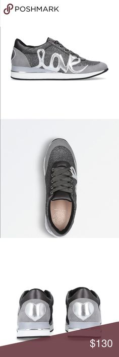 NEW! Kurt Geiger Ottilie trainers from London! Pewter/multi colored fun sneaker. Never worn. Kurt Geiger Shoes Athletic Shoes