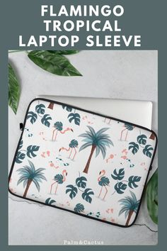 Get in the mood for summer and freshen up your office space with this tropical, flamingo laptop sleeve. Made from Neoprene, this case is water, oil and heat resistant and also will protect you laptop from scratches. Available in 2 sizes. #laptopsleeve #laptopcase #flamingo #flamingogifts #palmtree #tropical #macbookproaccessories #macbook Macbook Case, Laptop Case, Macbook Pro Accessories, Flamingo Gifts, Get In The Mood, Laptop Sleeves, Tropical, Oil, Space
