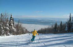 Beautiful views when skiing at Le Massif