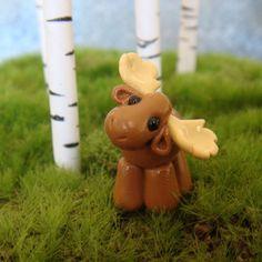 Cute Clay Moose- polymer clay. $10.00, via Etsy.
