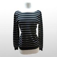 Fab.com | Maggie Striped Knit Black