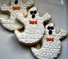 Halloween Ghost Sugar Cookies by thepinkmadeline on Etsy, $36.00