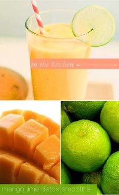 Mango Lime Detox Smoothie - It has coconut water to keep you hydrated as well as a pinch of cayenne to rev up your metabolism.