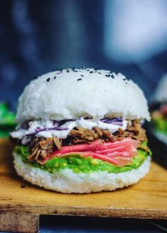 Meet the sushi burger.