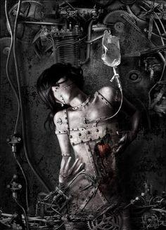 Wounded Machinery | Digital art & Photo-illustration by Marcela Bolívar