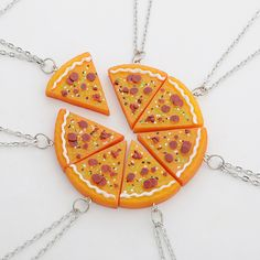 7pcs New Vintage Pizza Necklaces Ancient Gold Silver Pizza Food Charm Pendant Statement Necklace Sweater Chain Best Friends Gift-in Pendant Necklaces from Jewelry on Aliexpress.com | Alibaba Group