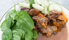 Beef stew recipe. Gluten-free, dairy-free, low fodmaps, slow cooker magic! Fodmap Recipes, Beef Recipes, Dairy Free, Gluten Free, Stew, Slow Cooker, Magic, Food, Meat Recipes