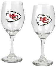 KC Chiefs wine glasses! Perfect for game day!