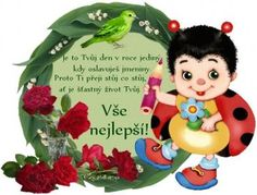 přání k svátku – Seznam.cz Beautiful Roses, Birthday Wishes, Good Morning, Christmas Ornaments, Holiday Decor, Creative, Frases, Text Posts, Buen Dia