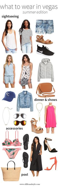 Going to Vegas this summer and don't know what to wear? I've got you covered! Check out my what to pack/what to wear in Vegas in the summer! On the blog now! www.oflifeandstyle.com