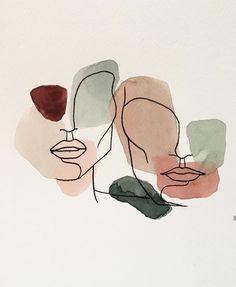 watercolor art for beginners & watercolor art for beginners Painting Inspiration, Art Inspo, Art Sketches, Art Drawings, Minimal Drawings, Wal Art, Art Watercolor, Simple Watercolor Paintings, Simple Watercolor Flowers