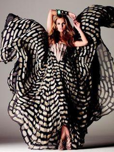 It's like a kimono dragon gown.