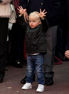 Prince Jacques of Monaco during the inauguration of the Christmas Village in Monaco on 3 December 2016.