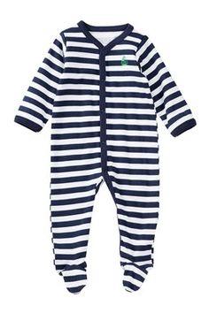 Nautical Striped Footie (Baby Boys)