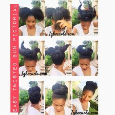 This is what I do when I end up with a #floppyfro #naturalhair #bun #pictorial