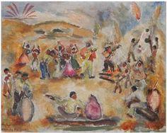 Título :O Samba Artista :Annita Catarina Malfatti - Anita Malfatti - Anita Malfati Ano :1940 Técnica :Óleo sobre Tela Dim. :39,3 x 49,3 cm