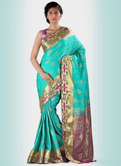 Buy online indian designer saree. Shop now! This gratifying print work casual saree. Worldwide free shipping.