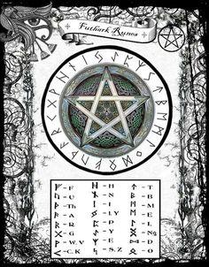 Divination:  #Futhark #Runes Chart.