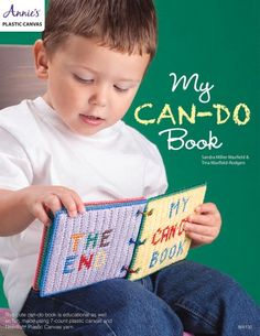 New in Needlework - Your favorite toddler will love this colorful, educational book. They will learn to zip the smiling clown's mouth, tie the tennis shoe and attach the flower to the stem. Book is made using plastic canvas and Needloft Craft Yarn. Plastic Canvas Crafts, Plastic Canvas Patterns, Doll Videos, Winter Crafts For Kids, Needle Book, Toddler Books, Lana, Needlepoint, Canvas Learning