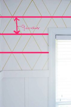 A Gold, Bold Geometric Sharpie Wall - The Bold Abode