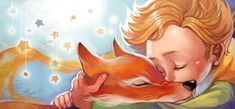 """Illustration of """"The Little Prince"""" by Antoine de Saint-Exupéry Materials used: Watercolors, ink pen. The Little Prince Prince Drawing, The Little Prince, Animation Film, Belle Photo, Cartoon Drawings, Aurora Sleeping Beauty, Character Design, Illustration Art, My Arts"""