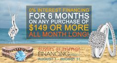 We're ready to share that EXCITING NEWS that we spoke of last week! Start your holiday shopping early and spare yourself the stress and SAVE! Don't miss out on our Sizzlin' Summer Financing Event only happening in our stores until August 31!  www.hurstdiamonds.com www.facebook.com/HurstFineDiamonds Call 785.749.5552 for questions!
