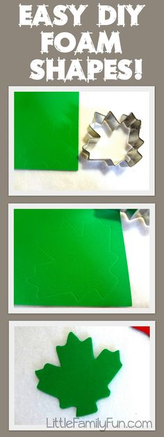 Good idea for creating foam shapes!