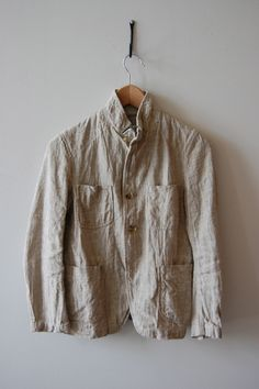 FWK Engineered Garments Bedford Jacket in Natural Slub Linen.
