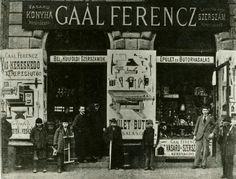 1896. Gaál Ferenc vasárúkereskedése a Kerepesi  (a mai Rákóczi) úton.