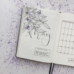 Some of you asked me to show my pages more closely to see the details, here it is! Zoom of my May setup, What's your color for this month? My is purple, no doubt!  #BulletJournalMonthlyLog