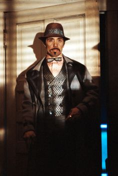 "Edward James Olmos in Blade Runner. The character, Gaff, is not in the novel. In the script notes he's described as ""a man of the future""."