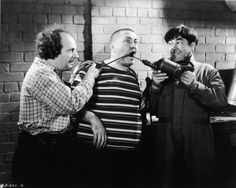 """Left to right: Larry, Curly, and Moe - """"The Three Stooges"""""""
