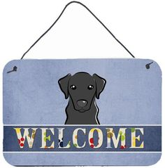 Black Labrador Welcome Painting Print