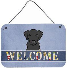 Black Labrador Welcome Painting Print